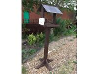 Hand crafted slate top bird table