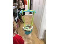 Baby swing bouncer