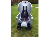 Child's bike seat with attachments for 2 bikes (and helmet if required)