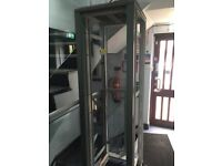 """19"""" Comms / Switch / Storage Rack - Glass Front"""