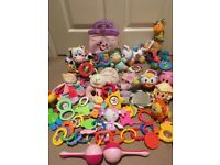 Bag of baby musical/rattle/soft toys