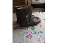 Girls next boots size 8
