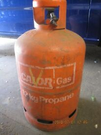 Calor gas bottle. Propane. Empty