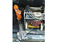 Honda petrol hydraulic concrete breaker