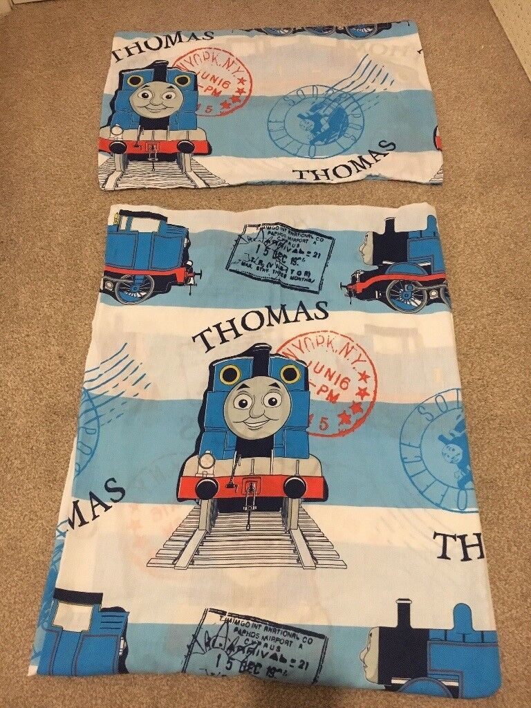 Thomas the tank cot bed quilt cover