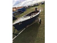 14 FT Fishing Boat 4HP Mercury Outboard