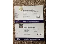 British Strongest Man tickets x2 Doncaster Dome, 28/01
