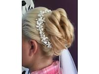 Beaded and Swarovski crystal hair vine
