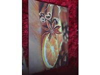 Printed Canvas - Orange - Cinnamon - Living room - Kitchen - Wall Art