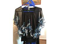 Black and Floral Coast Floaty Top size 14