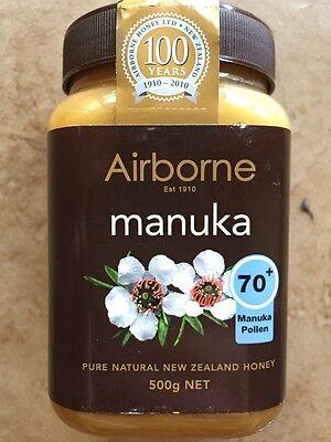 3 x 500g New Zealand AIRBORNE PURE MANUKA HONEY 70+ ***BEST PRICE