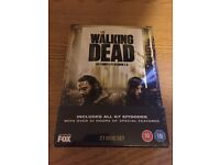 THE WALKING DEAD SEASONS 1-5 ON DVD - NEW & FACTORY SEALED!