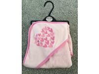 Pink brand new baby towel