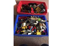 2 boxes of micro bloks ( like lego)