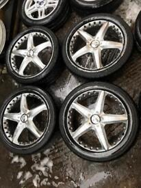 "19"" ALLOY WHEELS FOR FORD FOCUS MONDEO GALAXY CONNECT SET OF 4"