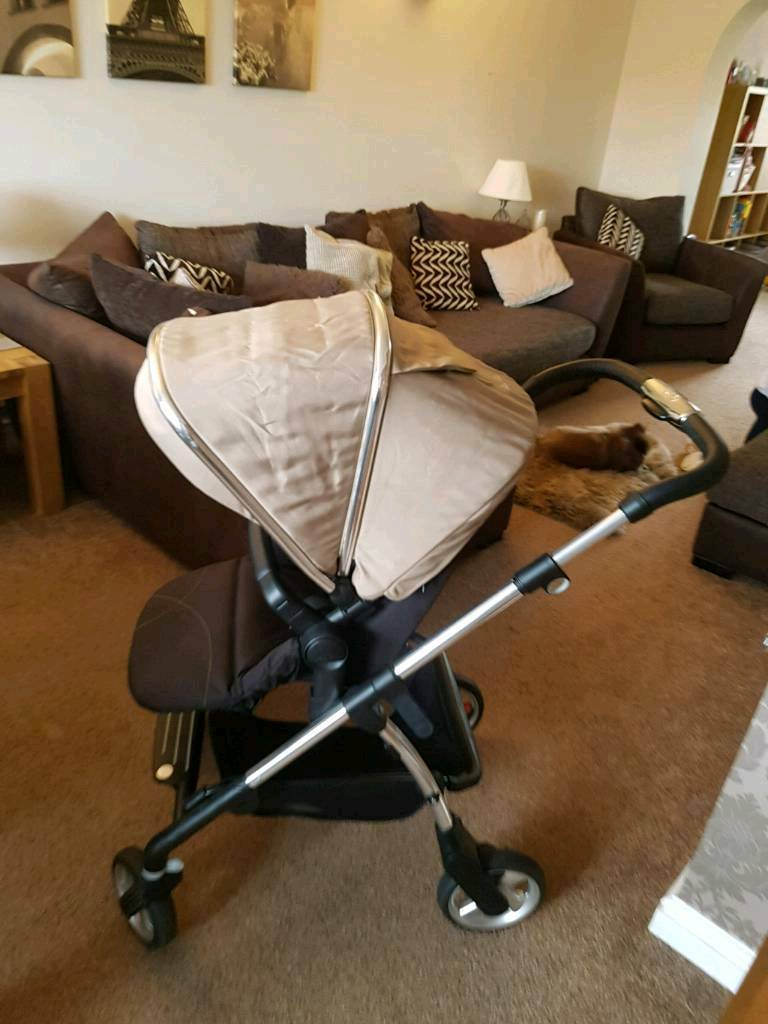 Silver Cross Wayfarer Pram Pushchair Sand and Accessories
