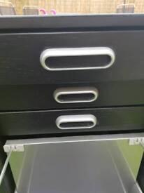 Filing cabinet wood effect