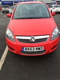 2013 VAUXHALL ZAFIRA PETROL 1.6 EXCLUSIVE WARRANTED LOW MILEAGE 28000 ONE OWNER