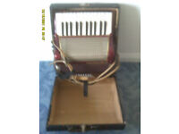 piano accordian, good working order, ideal beginner,hardly used