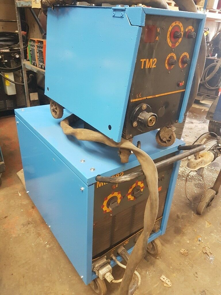 INE NM382, 3 PHASE MIG WELDER WITH SEPERATE WIREFEED UNIT. SERVICED ...