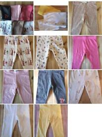 9 x Baby Girl Leggings