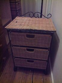 Wicker Slim drawers x 2