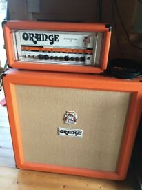 Orange Rockerverb 100 Guitar Amplifier with Orange PPC 412 Cabinet