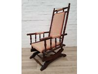 Antique Rocking Chair (DELIVERY AVAILABLE FOR THIS ITEM OF FURNITURE)