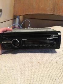 Sony car stereo, Bluetooth, aux, detachable facia