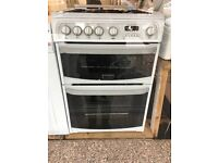 CANNON 60CM ALL GAS COOKER IN WHITE WITH LID