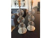 Glass ball pair of lamp bases