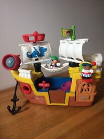 Little People toy pirate ship