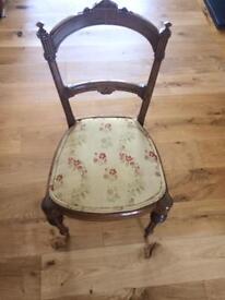 6 stunning Antique Walnut Chairs