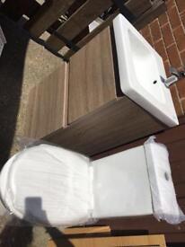 Sink n vanity no toilet mixer £120 500x450x890 bargain cost £595