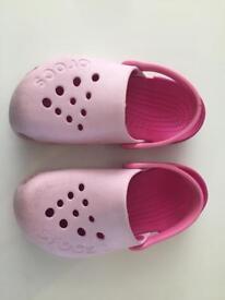 Pink Crocs Size 10 Girls