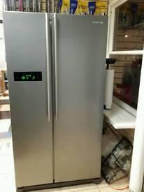 Samsung American fridge freezer in silver