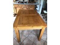 Solid wood table (extends from 6-8 seats)