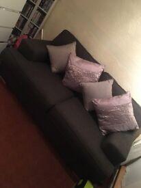 2 seater dfs sofa £40 (dark grey)