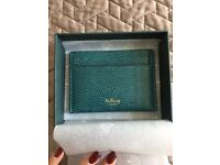 MULBERRY Wallet Embossed Lizard Credit Card Holder £110RRP with original box and tags