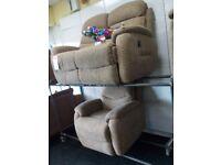 Lazy boy power recliner sofa chair set