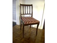 Red White Stripe Dining Room Chair Bristol (Oldland Common)