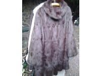 CHARITY SALE: Vintage fur coat