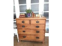 ANTIQUE 19th C. PINE CHEST FREE DELIVERY LDN🇬🇧