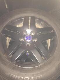 """4 15"""" VW black alloy wheels"""
