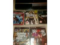 Playstation 3 with 5 games and one control pad for £60