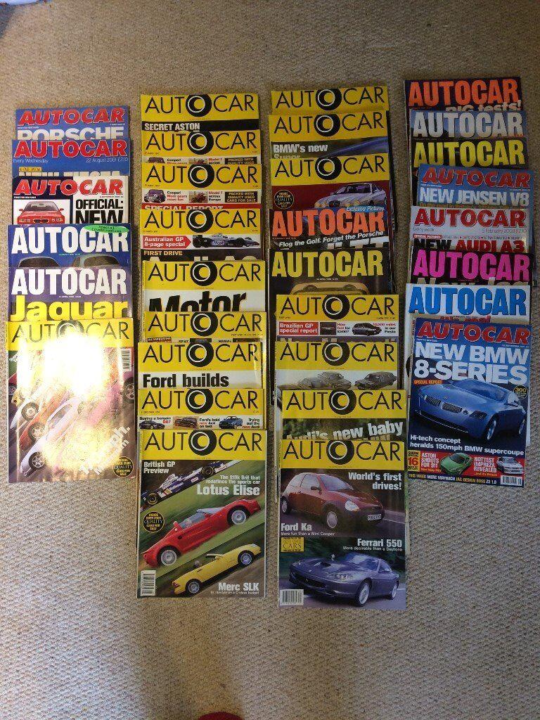 33 Autocar Magazines 1997 - 2000