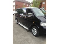 Black VW Transporter T5 130 TDi LWB 2006