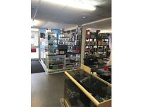 Mobile phone repairs accessories shop to let including stock and fixtures and fittings