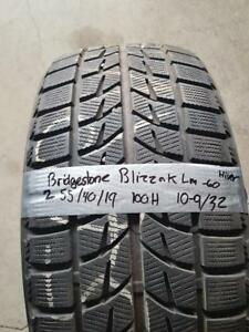 255/40/19 1 pneu bridgestone  hivers 10/32
