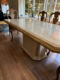 Tessellated Fossilised Coral Dining Table - seats 8 people, excellent condition